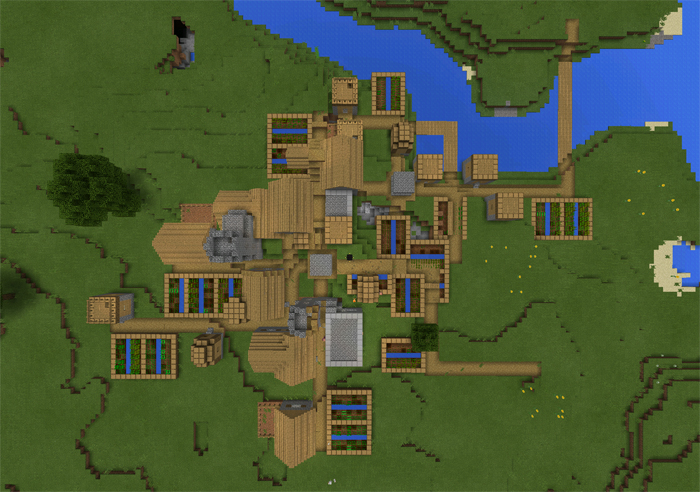 Pe 0 11 Two Villages Mashed Together Minecraft Seeds