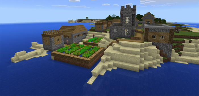 Pe 1 0 Village Spawn Minecraft Seeds