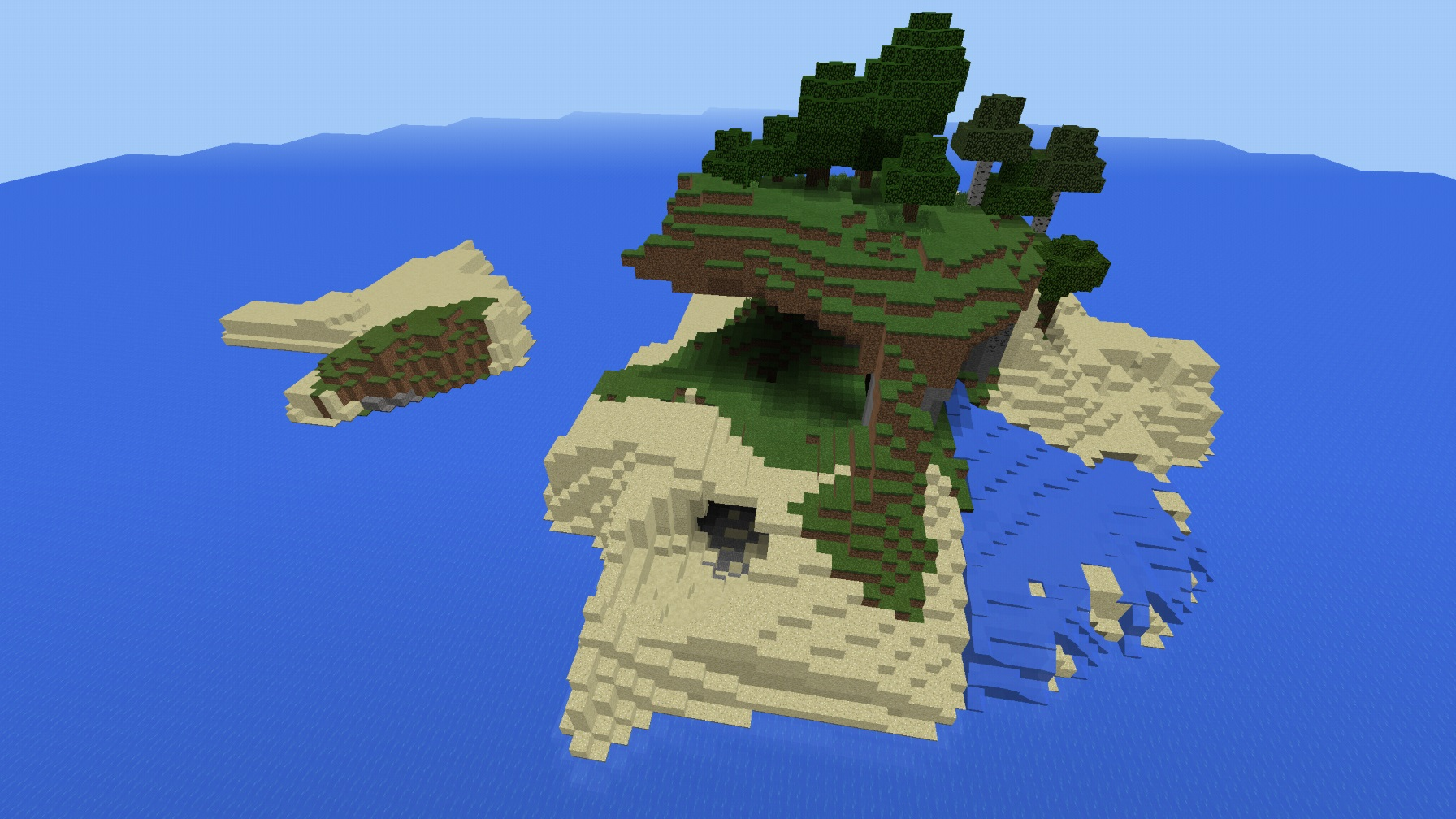 Pe 1 1 Tropical Survival Island Minecraft Seeds